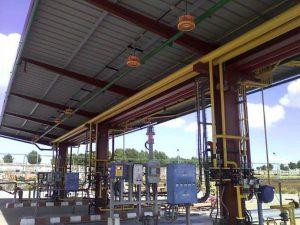 Instalación zona embasado gas planta Repsol